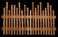 Hanichel 8 Eck 40/40 mit Querriegel 100 mm halbrund