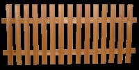 Lattenzaun gehobelt 25/70 mm mit Querriegel 55/75 mm