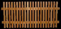 Lattenzaun gehobelt 25/45 mm mit Querriegel 55/75 mm
