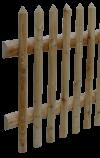 Staketenzaun halbrund 60 mm mit Querriegel 100 mm halbrund